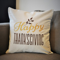 Happy Thanksgiving pillow cover
