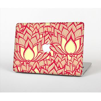 """The Sketched Red and Yellow Flowers Skin Set for the Apple MacBook Air 13"""""""
