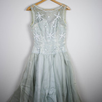 1960's Mr.Frank New York Mint Pastel Prom Dress