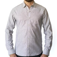 Textured Solid Oatmeal Shirt - DANTE  Size XXL Available