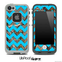 Camo & Blue Chevron Print Skin for the iPhone 4/4s or 5 LifeProof Case