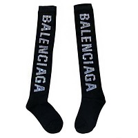 BALENCIAGA Autumn Winter Newest Popular Women Personality Diamond Letter Knee Socks