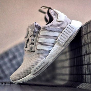 ADIDAS Women Running Sport Casual NMD Shoes Sneakers grey