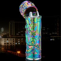 "EQcreative Plus ""Acid Dreams"" Electric Plasma Arc Pocket Lighter for Bowls, Bongs, & Hookah"