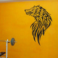 Wall Vinyl Sticker Decals Kids Room Decor Mural Animal Wolf Angry Cheap 147