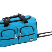 "PRD322-TURQUOIS 22"" Rolling Duffle Luggage Bag"