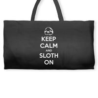 Keep Calm And Sloth On Weekender Totes
