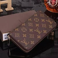 LV Louis Vuitton Clutch Bag Wristlet LV Classic Women Leather Print High Quality Wallet Purse