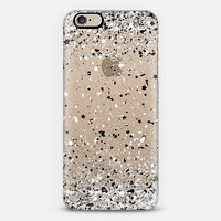 Silver Black White Confetti Explosion iPhone 6 case by Organic Saturation | Casetify