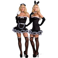 Dreamgirl Womens Hop To It Halloween Party Rabbit Maid Costume