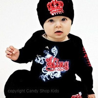 Cool baby boys King oufit - Red
