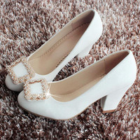 High Heels Women Shoes White Wedding Shoes Women Sy-1662