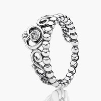 Women's PANDORA 'My Princess' Band Ring - Silver/ Clear