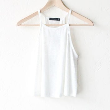 Knit Swing Cami Crop Top - Ivory