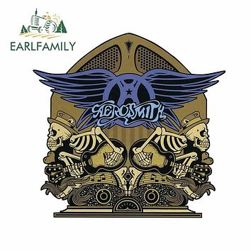 EARLFAMILY 13cm x 12.5cm for Aerosmith Radio Skellys Funny Car Stickers Waterproof Suitable for RV Car Accessories Decals|Car Stickers