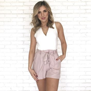 Day Time Date Shorts In Pink