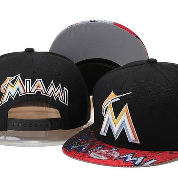 Perfect Florida Marlins hats Women Men Embroidery Sports Sun Hat Baseball Cap Hat