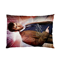 David Tennant Dr Who Tardis With Autograph New Pillow Cover Case Collection