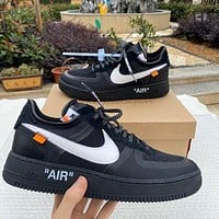 OFF-WHITE x Nike Air Force 1 low-top sports running shoes