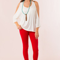 Classic City Skinnies in Red