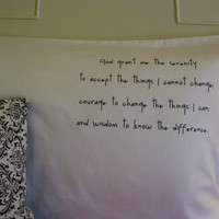Serenity Prayer Pillow Case Personalized College Dorm Gift