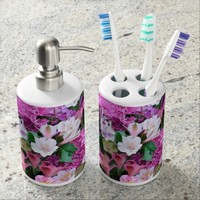 Beautiful Flower Bouquet Bath Set