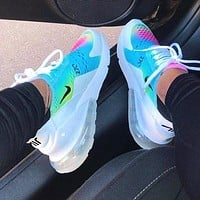 Nike Air Max 270 Fashion Women Men Personality Air Cushion Running Sport Shoe Sneakers