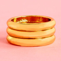 The Secret Life of Threes Gold Knuckle Ring Set