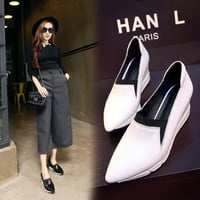 Hot Sale Casual Comfort Hot Deal On Sale Summer Shoes Pointed Toe Wedge Stylish With Heel Sneakers [6050202177]
