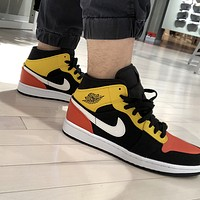 Air Jordan 1 Mid AJ1 Buckled Patchwork High-Top Sneakers Basketball Shoes