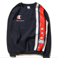 Autumn and Winter Champion embroidery small lovers sweater