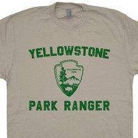Yellowstone T Shirt Vintage Yellowstone National Park T Shirt Cool Camping Shirt