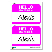Alexis Hello My Name Is - Sheet of 2 Stickers