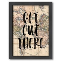 Americanflat ''Get Out There'' Framed Wall Art