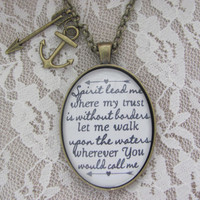 Hillsong Oceans Oval Pendant Necklace