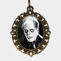 Phantom Of The Opera, Lon Chaney, Classic Horror, Oval Pendant