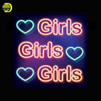 Neon Sign For Girls With Heart Neon Bulbs Sign FOOD light custom Handmade neon signs for Beer Bar Pub vintage neon signs Light-in Neon Bulbs & Tubes from Lights & Lighting on Aliexpress.com | Alibaba Group