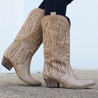 Very Volatile: Raspy Cowgirl Boots {Stone}