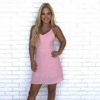 Forbidden Love Pink Skater Dress