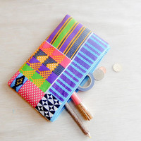 African Print Pencil Case/ Gift for Her/ Mothers Day Gift/ Make Up Bag/ Pouch/ Best Friend Gift/ Gift for Women/ Wife Gift/ Teacher Gift