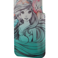 Best 3D Full Wrap Phone Case - Hard (PC) Cover with Ariel Little Mermaid Painting Design