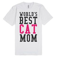 World's Best Cat Mom T-Shirt-Unisex White T-Shirt