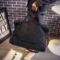 Studded Crossbody Shoulder Bag Handbag Messenger Bag