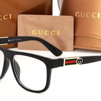 GUCCI Fashion Women Men Leisure Side Edge Logo Comfortable glasses N-ANMYJ-BCYJ 5#