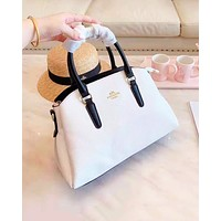 Coach fashion selling casual single-shoulder bag plain color for women White