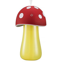 Haoran 200ml Portable Ultrasonic Cool Mist Mushroom Lamp Humidifier with Color LED Lights (3rd Generation, Touch inductive switch) USB Mini Whisper-Quiet Air Humidifier, Waterless Auto Shut-off , Great for Office, Home, Bedroom, Car