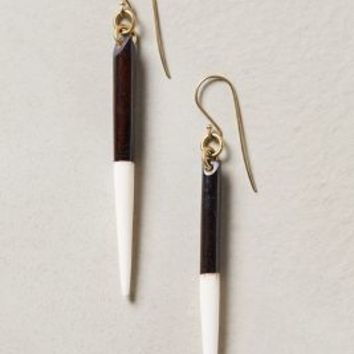 Darklight Drops by Made Black & White One Size Earrings