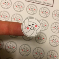 Cute Volleyball Planner Stickers for your Erin Condren Planner