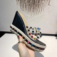 Valentino Women Casual Shoes Boots fashionable casual leather Women Heels Sandal Shoes created created created created