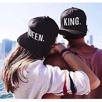 KING QUEEN Embroidery Snapback Hat